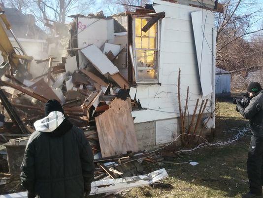 'La Casa del Demonio' fue demolida el 19 de enero de 2016. Foto: John Delano.)