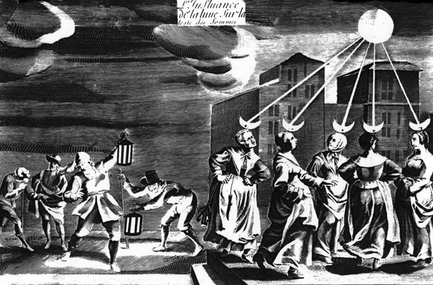 The Influence of the Moon on Women's Heads. Circa 1650